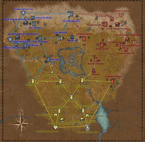 cyrodiil alliance war eso map