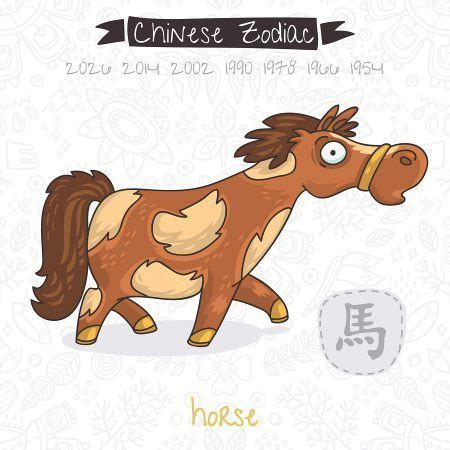 horse horoscope year chinois zodiac pferd vecteur zodiaque signe chinese 2021 zodiaco cinese illustrazione feng shui shio tahun betrag horoskop