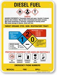 diesel fuel chemical danger ghs sign sku k2 1254 With diesel fuel msds