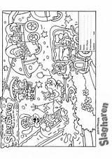 Coloring Park Amusement Pages Theme Map Blank Template Sketch Picgifs Pdf sketch template