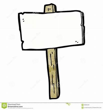 Cartoon Signpost Blank Bianco Cartello Fumetto Leere
