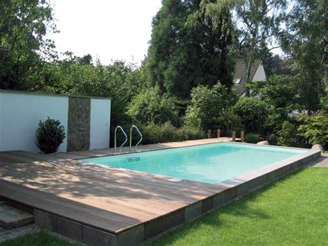 Schwimmbad Mit Steg Im Garten Schwimmbadzuhausede