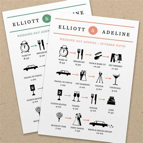wedding agenda template 4 best images of wedding day agenda printable wedding day agenda template wedding