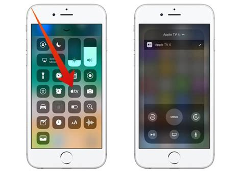 learn   apple tv remote  ios  control center