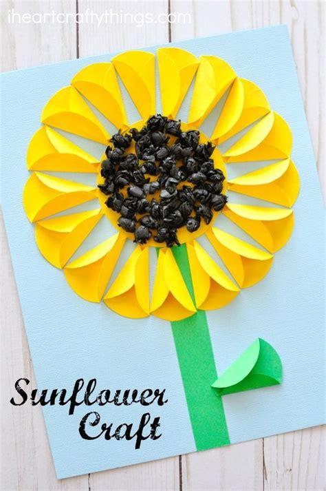 wunderschoenes gefaltetes sonnenblumen bastelpapier aus diy selbermachen basteln fruehling