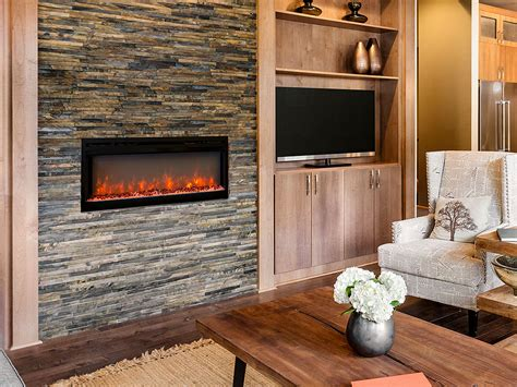 In Built-in Electric Fireplace