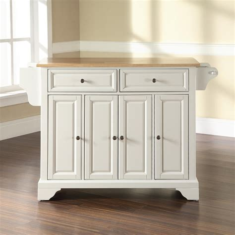 crosley furniture kitchen cart shop crosley furniture white craftsman kitchen island at