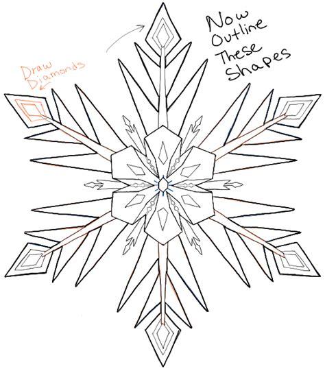 draw snowflakes  disney frozen   easy