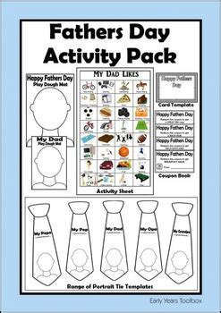 fathers day activity pack  early years toolbox tpt