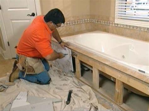 claw foot tub installation surround demolition  tos