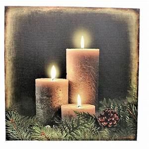 Led Wandbilder Shop : 2 wandbilder kerzen led beleuchtet je 30 x 30 cm batteriebetrieben weihnachten ~ Markanthonyermac.com Haus und Dekorationen