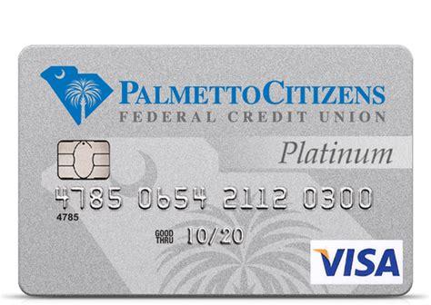 visa credit cards  palmetto citizens
