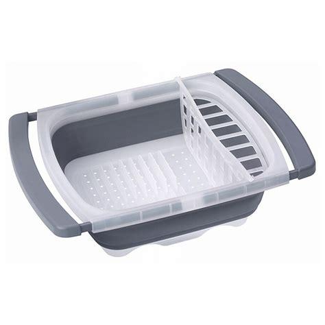 folding dish rack progressive 174 collapsible sink dish drainer 425811