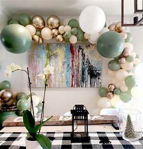 Sage, Green, And, Blush, Balloon, Garland, Arch, Diy, Kit, For, Party, Decorations