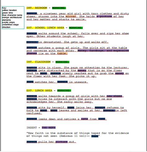 script breakdown template breakdown template word images