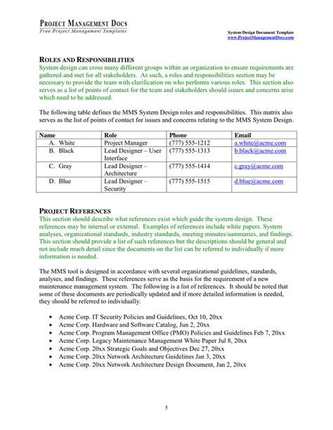 System Design Document Template In Word And Pdf Formats