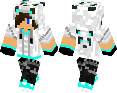 cool boy skin panda style minecraft skin minecraft hub