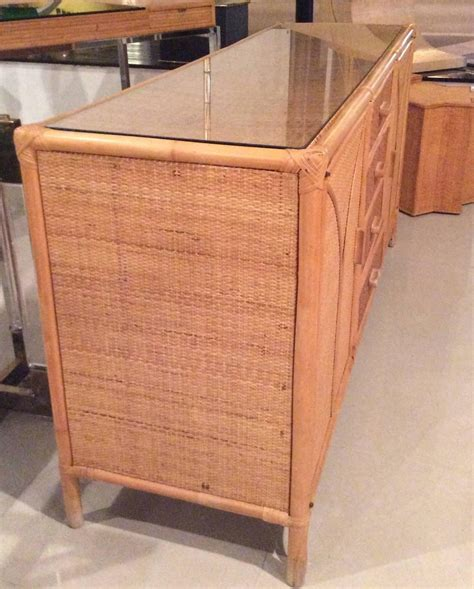 Wicker Sideboard by Rattan Sideboard Wicker Vintage Credenza Buffet Dresser