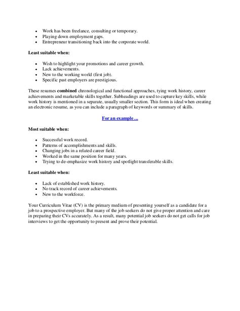 Standard Cv by How To Make A Standard Cv