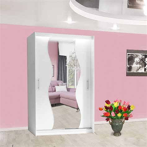 Wardrobe Hanging Mirror by Wardrobe Hanging Rail Sliding Doors Mirror Shelf Led