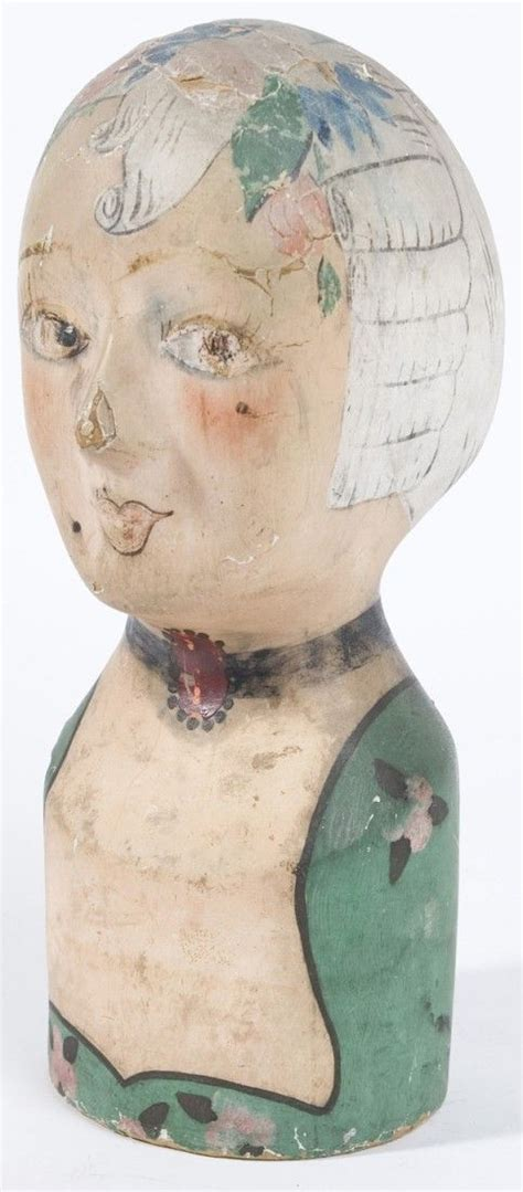 milliners paper mache head french  century original