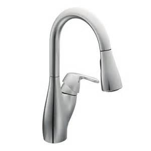 moen single handle pullout kitchen faucet faucet 7599c in chrome by moen