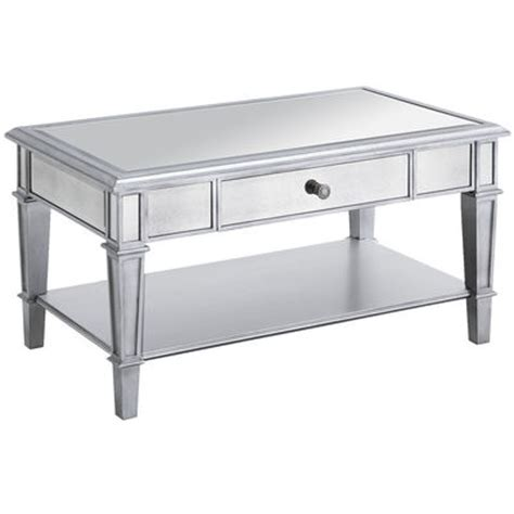 Hayworth Mirrored Coffee Table  Silver  Pier 1 Imports