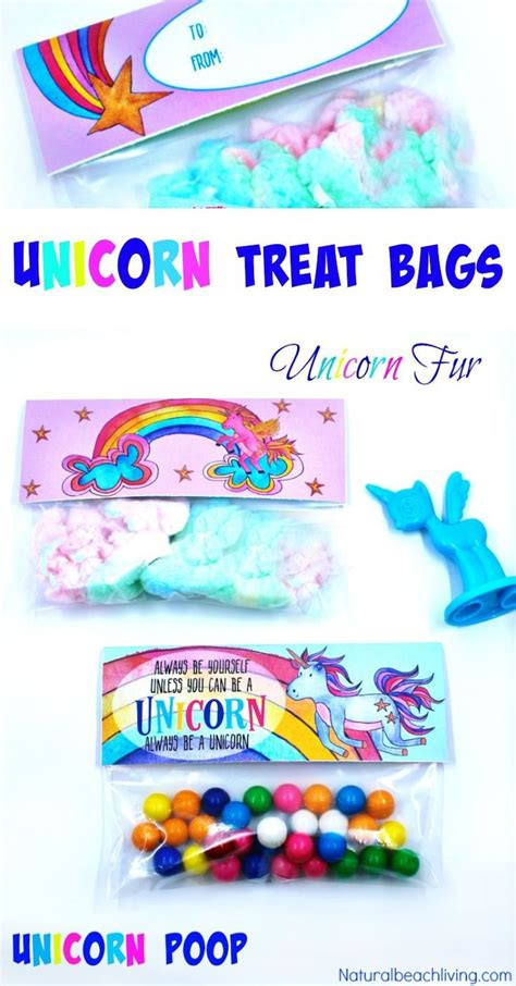 unicorn treat bags    perfect goodie bag ideas