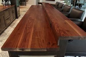 Wooden Kitchen Island Top & Bar Top - Contemporary