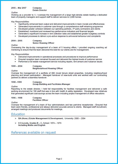 Cv Notes by 10 Cv Sles With Notes And Cv Template Uk Land