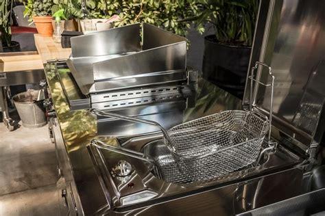 outdoor plancha fryer deep kitchen fat alpesinox