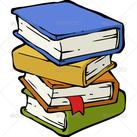 cartoon stack  books  image clipart