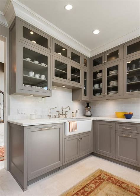 pictures of kitchen cabinets painted gray cabinet paint color is river reflections from benjamin