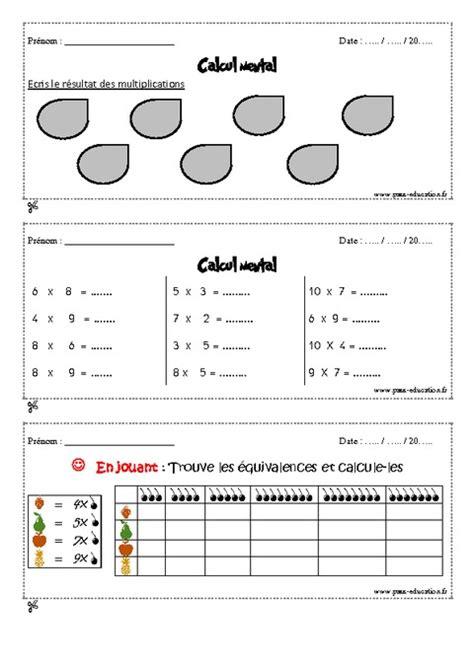 calcul mental tables de multiplication calcul mental cm1 exercices et bilan semaine 25 224 28 pass education