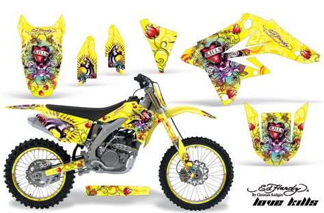 suzuki motocross graphics kit suzuki mx graphics sticker kit for suzuki rmz 250 2007 2009