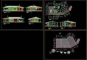 Country Restaurant, Hotel 2D DWG Plan for AutoCAD • DesignsCAD