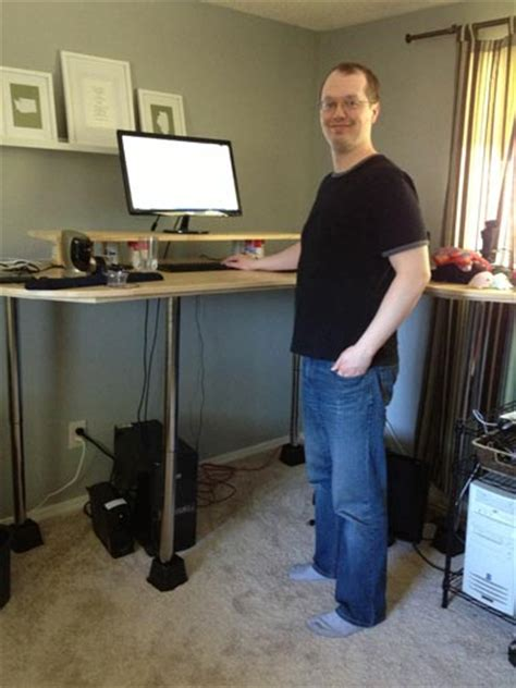 how tall is a desk jim s very tall diy standing desk