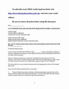 debt collection response letter for validation docoments With validation of debt letter template