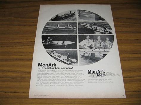 1973 Monark Fishing Boat by 17 Best Images About Vintage Boat Ads On Boats