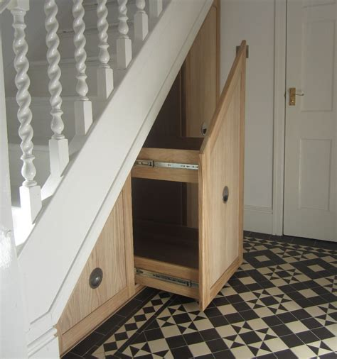 Small Closet Design Ideas by Oak Pull Out Under Stairs Drawers Mijmoj
