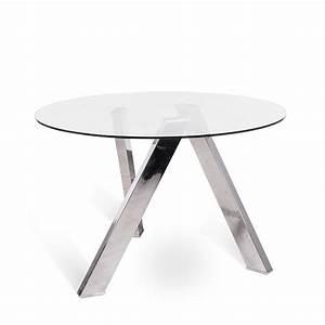 Esstisch Aus Glas : runder esstisch aus glas in modernem design adamo ~ Whattoseeinmadrid.com Haus und Dekorationen