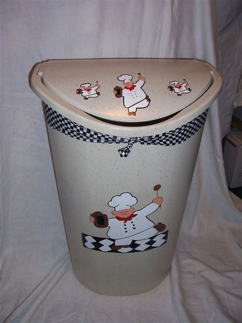 Fat Chef Kitchen Trashgarbage Can