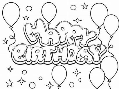 Coloring Birthday Happy Printable Sheet Colouring Boys