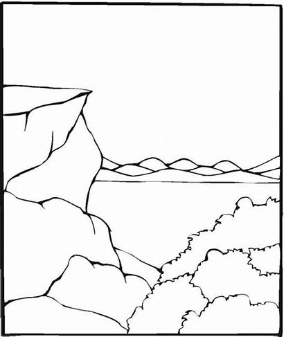 Coloring Water Lake Pages River Pond Clip