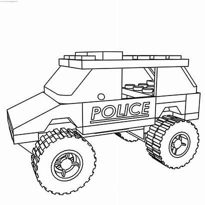 Lego Coloring Suv Police Colorare Easy Printable