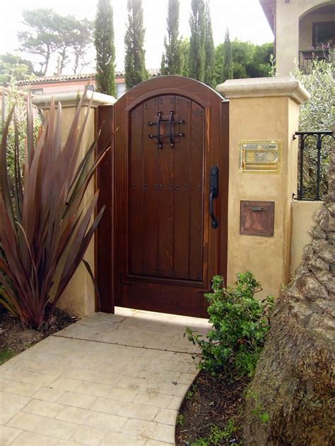 ideas impressive wooden gate designs  outstanding modern style  home safety ideas