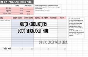Snowball Debt Calculator Spreadsheet How To Create A Debt Snowball Plan Snowball Excel