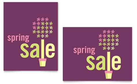 spring plant sale poster template word publisher