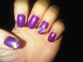 Pics photos nail art designs blue and purple black paint