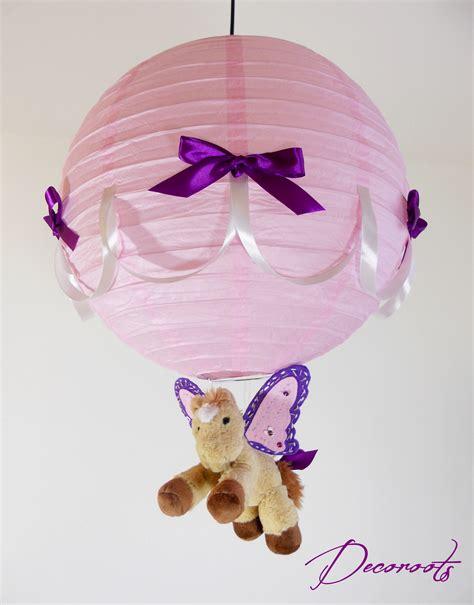 luminaire chambre bebe fille le suspension enfant bébé caramel le poney ailé